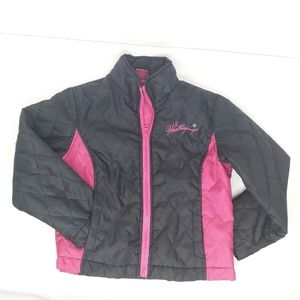 Weatherproof Girl's Jacket Pink Black Coat Sz 6/7